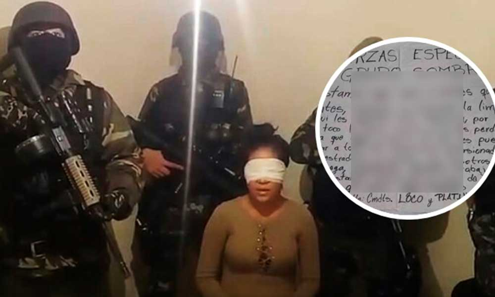 Sicarios del Cártel del Golfo liberan a mujer en Cerro Azul con narco mensaje