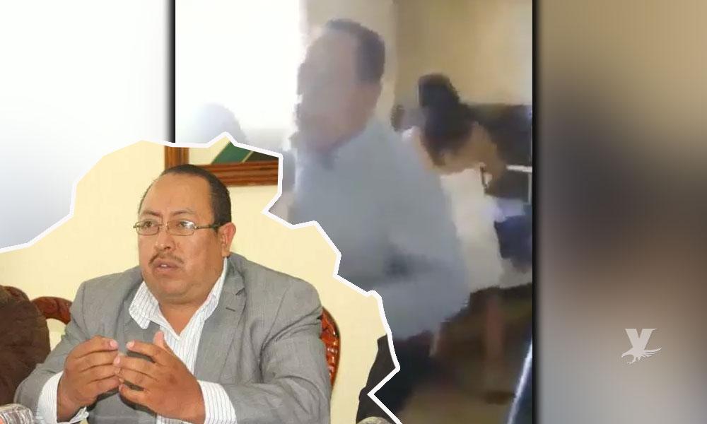 (VIDEO) Familiares de Presidente Municipal lo sorprenden en hotel con una sexoservidora