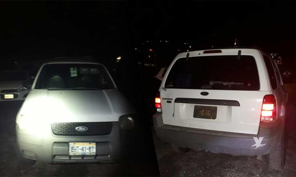 Policía de Tecate recupera vehículo con reporte de robo