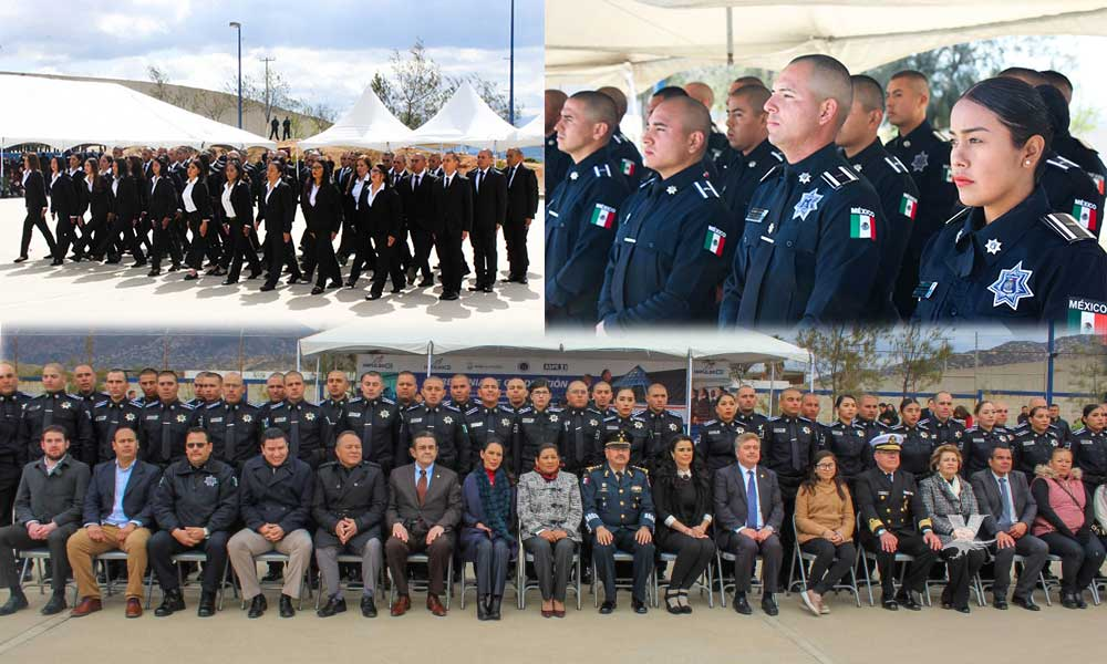 Se graduaron 150 cadetes de la Academia Estatal de Policía en Baja California