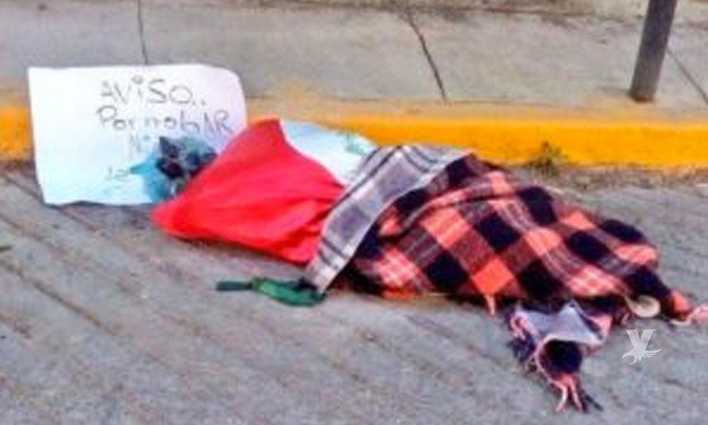 Envuelto en una Bandera de México y decapitado, fue encontrado el cuerpo de un supuesto secuestrador