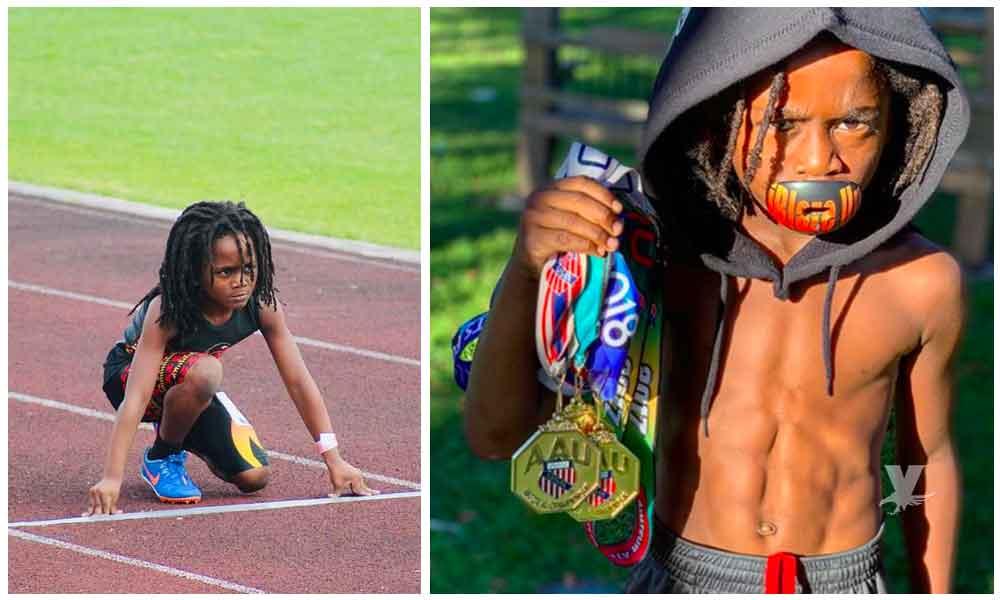 """(VIDEO) """"Blaze"""", a sus 7 años ya lo llaman 'El Nuevo Usain Bolt'"""