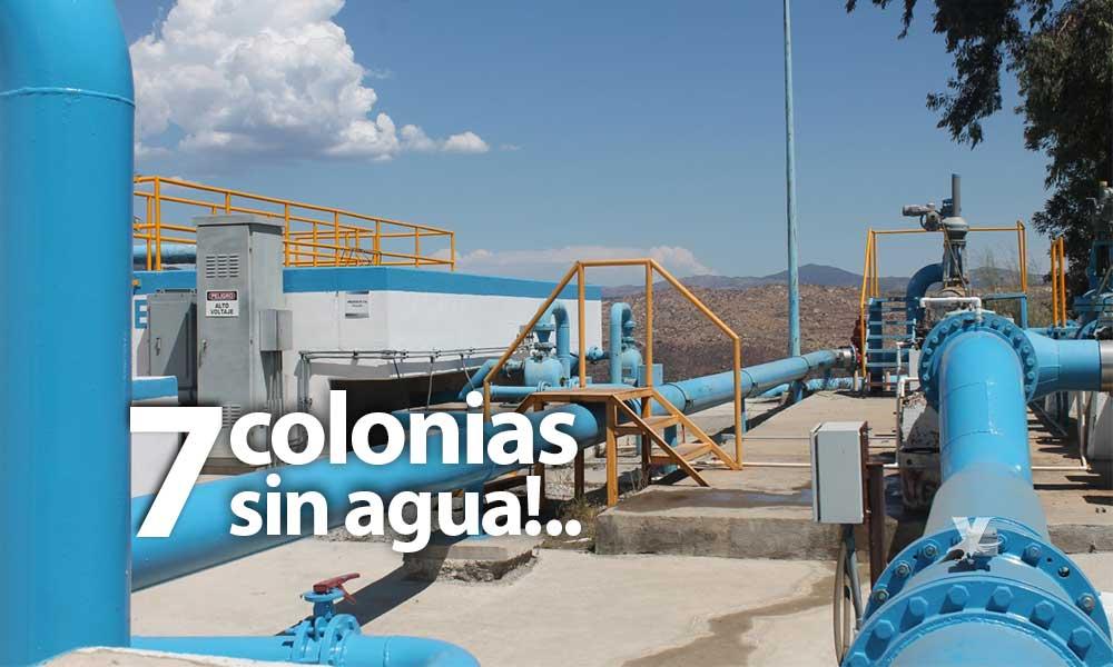 No habrá agua en 7 colonias este martes en Tecate