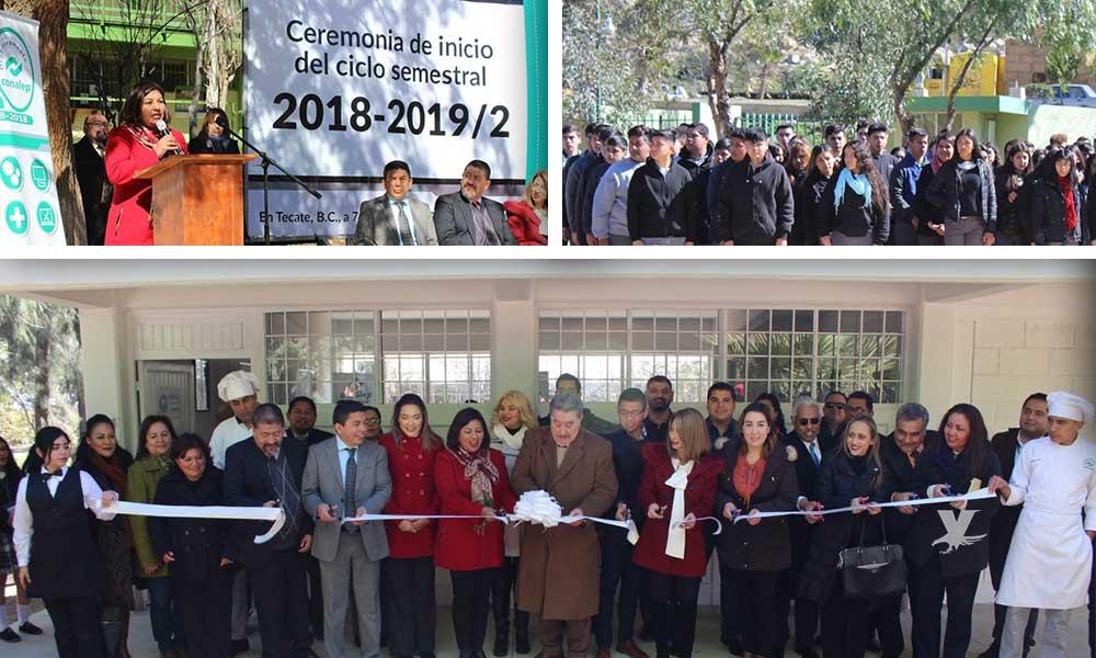 Inicia ciclo 2018-2019/2 con la inauguración del taller de Alimentos y Bebidas en Conalep Tecate