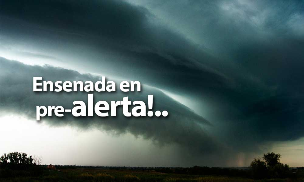 Ensenada en pre-alerta por fuerte tormenta; desde el miércoles hasta el viernes