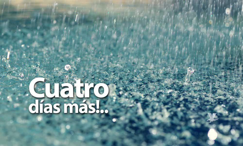 Cuatro días más de lluvia a partir de este sábado en Baja California; Hasta 2 pulgadas de agua