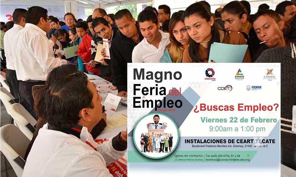 Participa Canaco en 'Magno Feria del Empleo en Tecate 2019', organizada por Canacintra