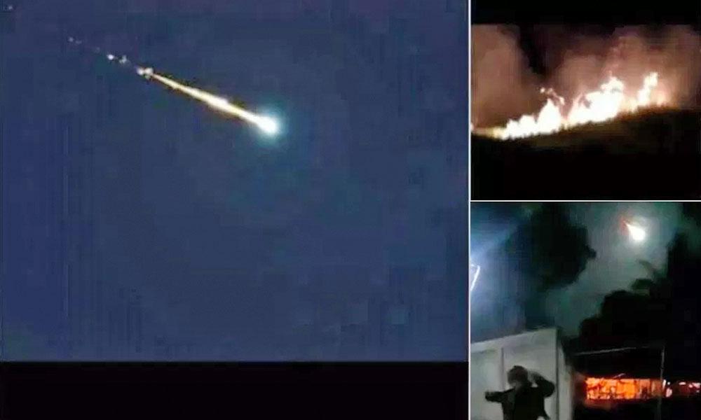 (VIDEO) Meteorito cae en Venezuela supuestamente causando un incendio