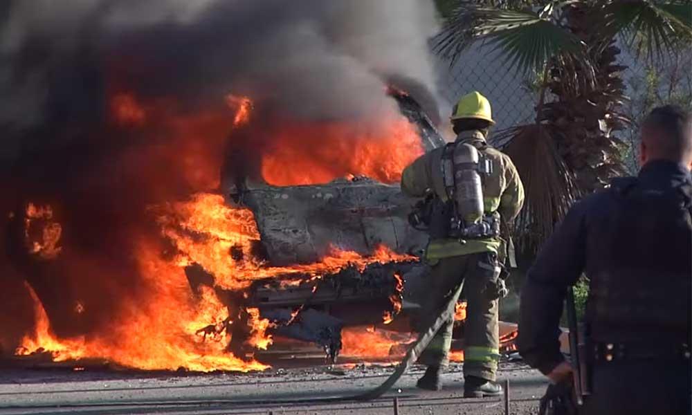 Muere calcinado pequeño de tres años dentro de vehículo en Tijuana