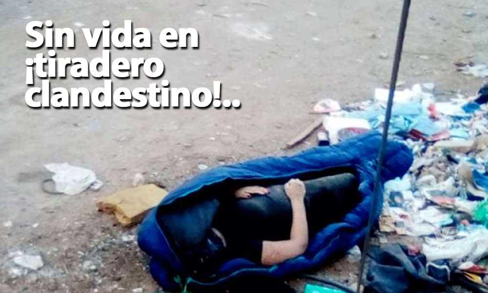 Cadáver de mujer es encontrado en una bolsa de dormir en Pueblo Nuevo