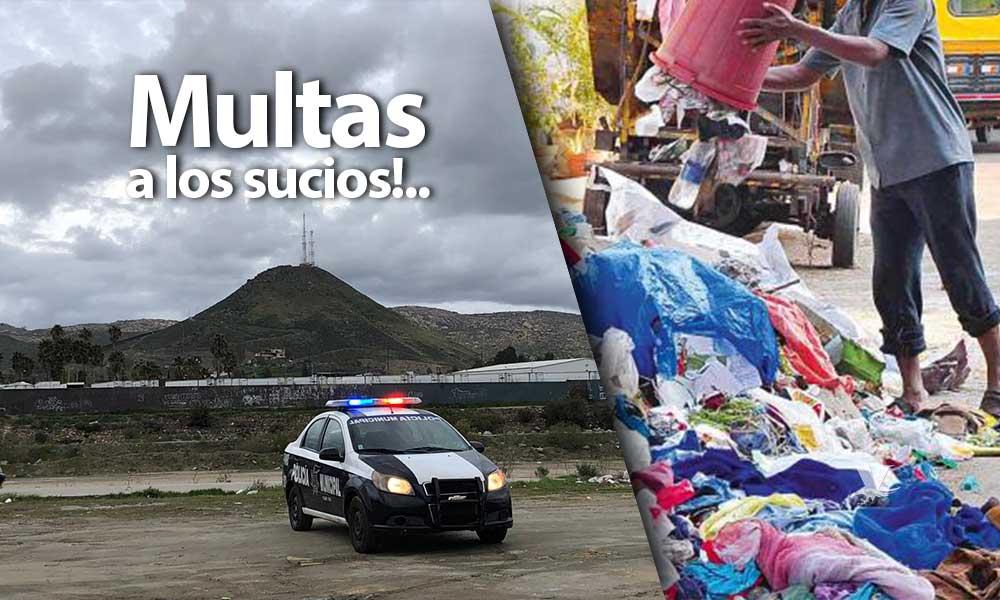 Hasta 8 mil 500 pesos de multa a quien tire basura en el Río Tecate