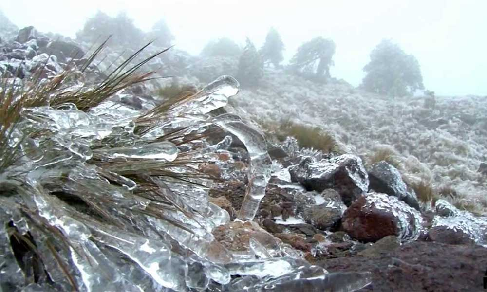 Caída de nieve o aguanieve en las Sierras de Baja California: Protección Civil