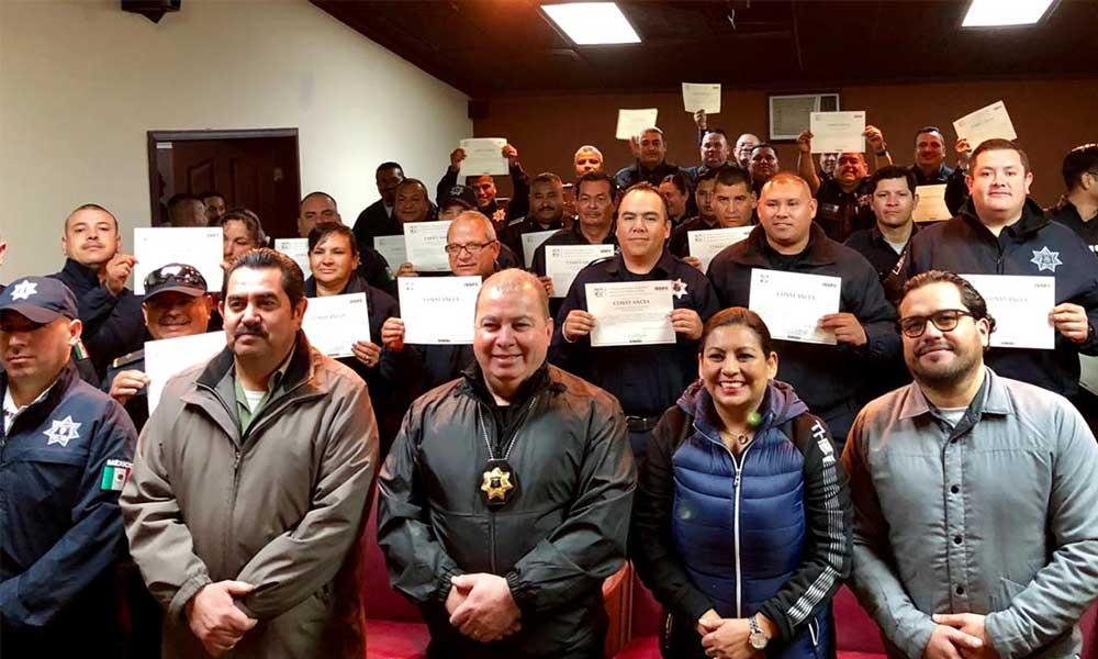 Profesionalizan a 78 Policías Municipales de Tecate