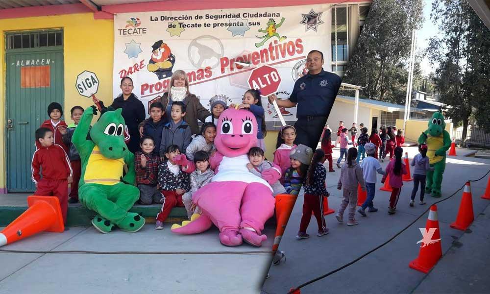 Fortalecen programas preventivos en Tecate; Priorizan valores cívicos y éticos