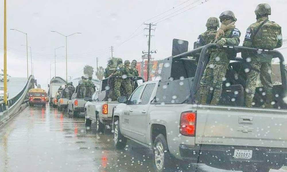 Policía Federal y Militares comienzan a realizar recorridos en Tijuana