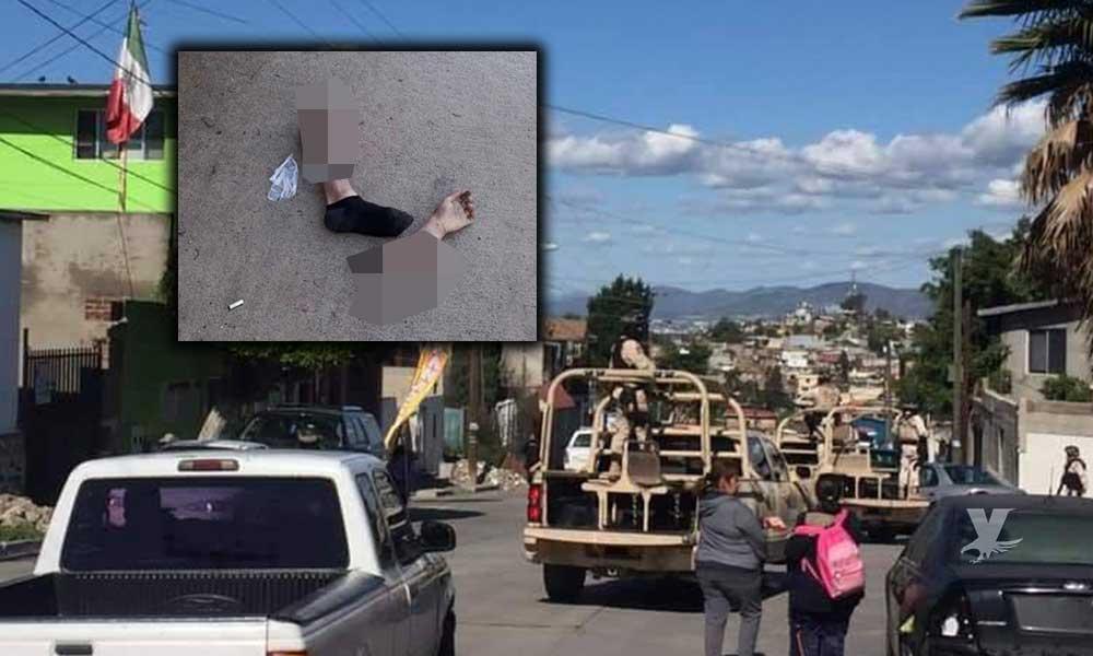 Dejan extremidades y mensaje de advertencia contra Militares y Policía Federal en Tijuana