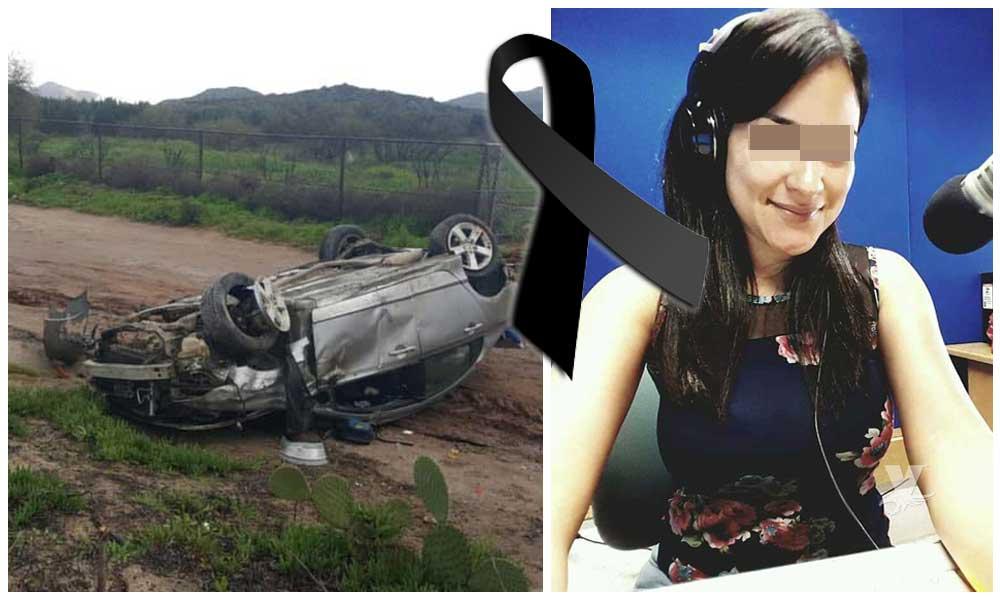 Conocida locutora radiofónica fallece en accidente de carretera Ensenada-Tecate