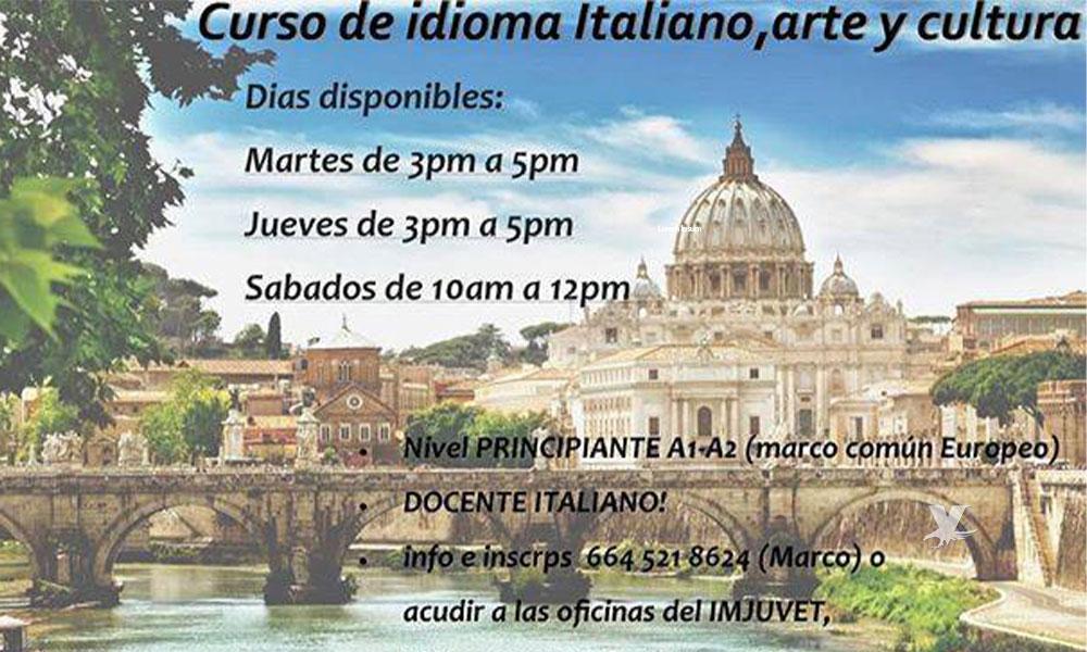 Abren inscripciones para Curso de Italiano en Tecate