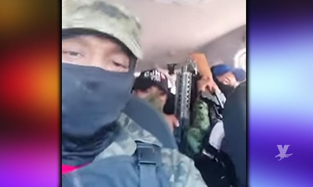 (VIDEO) Presuntos miembros del CJNG amenazan con matar a ladrones y secuestradores de niños en México