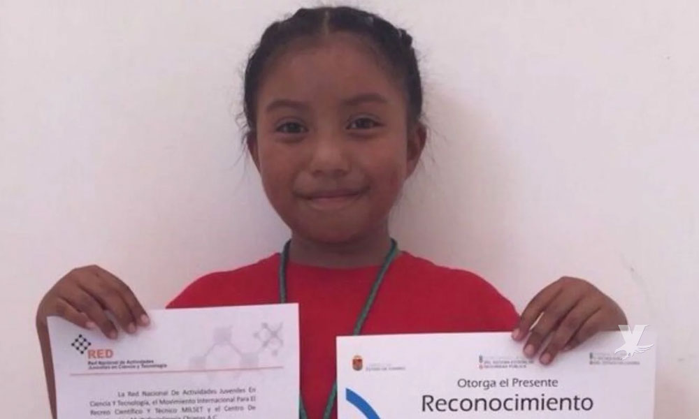 (VIDEO) Mexicana de 8 años gana premio de ciencia nuclear por invento para ayudar a su comunidad