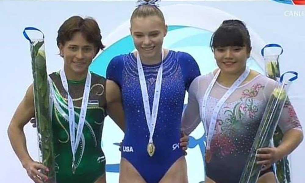 La nacida en Mexicali, Alexa Moreno gana Bronce en la Copa del Mundo de gimnasia