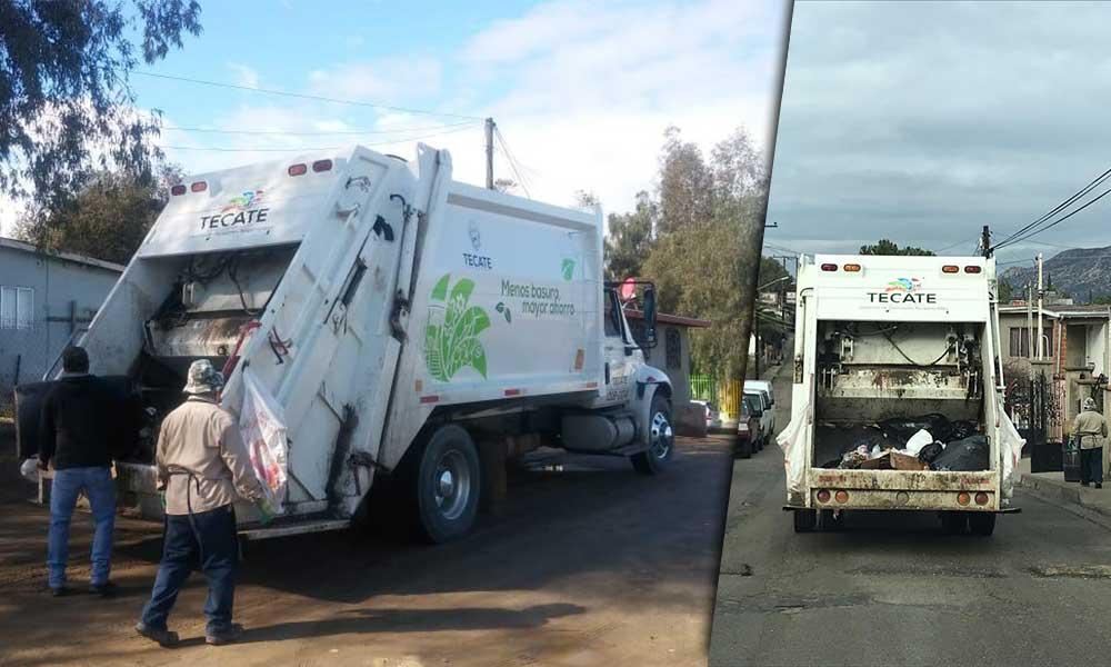 Programa de Zonificación atiende la ruta 2 de la recolección de basura en Tecate
