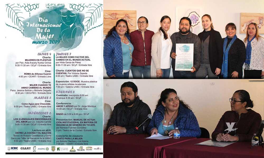 Anuncian programas del Día Internacional de la Mujer a celebrarse en Tecate