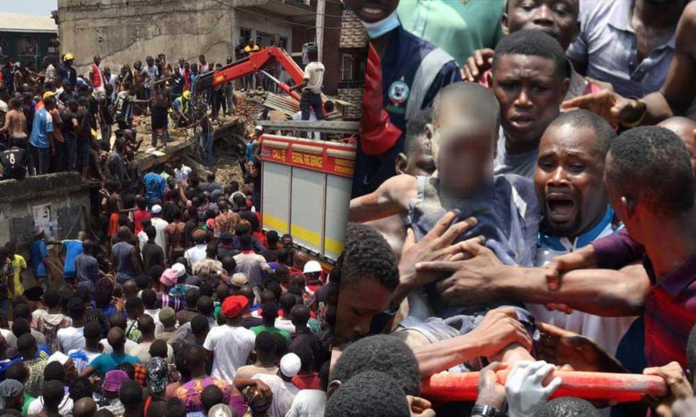Quedan sepultados más de 100 niños tras colapsar escuela en Nigeria