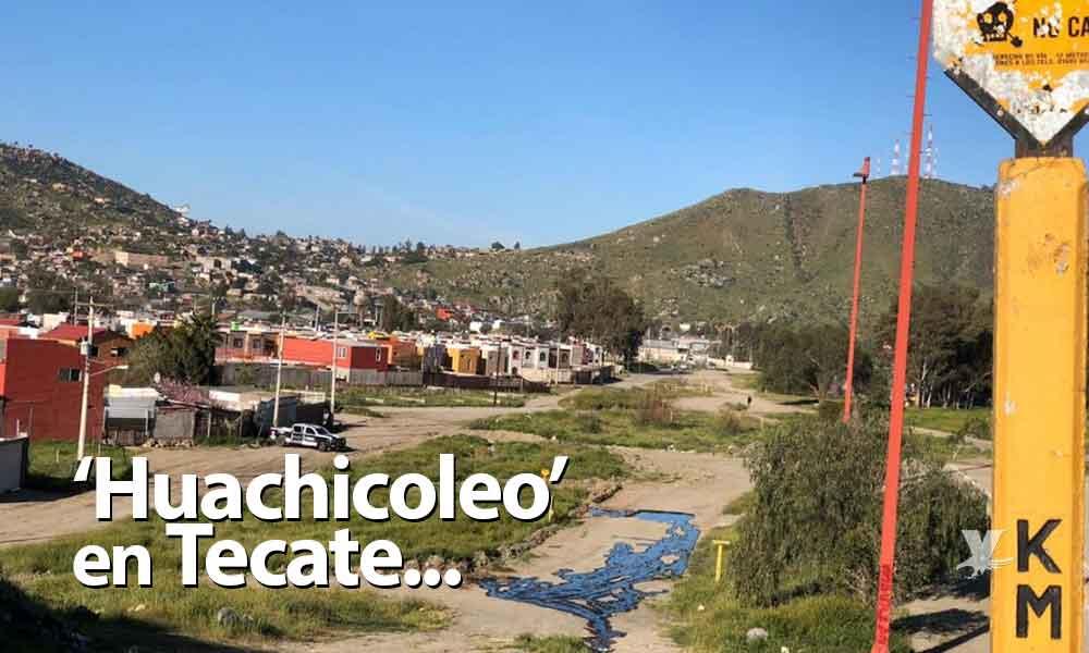 Presunto huachicoleo causa derrama de diesel en Tecate