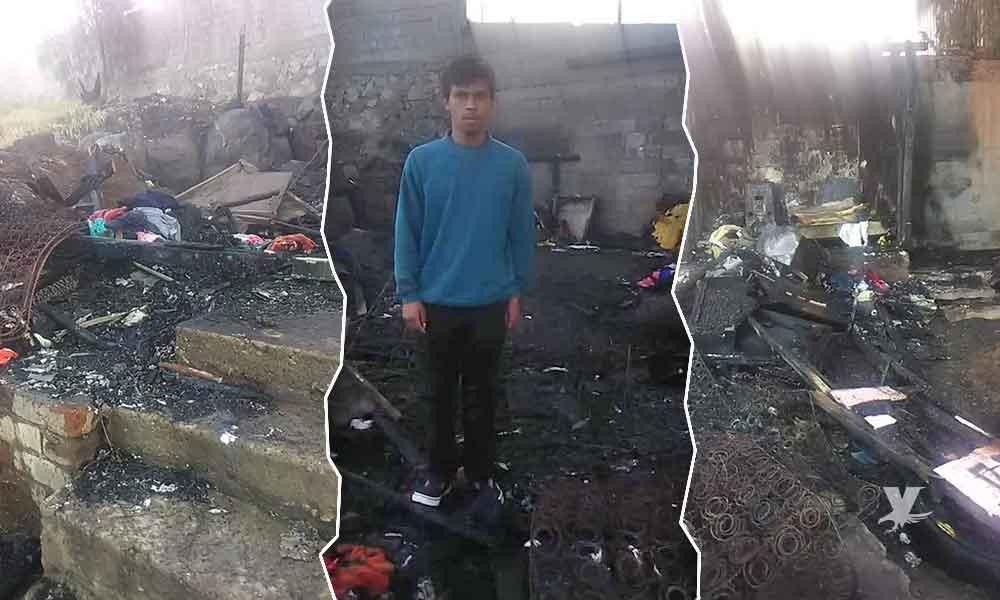 Joven con discapacidad pide apoyo a Tecate para reconstruir su casa que se quemó el fin de semana