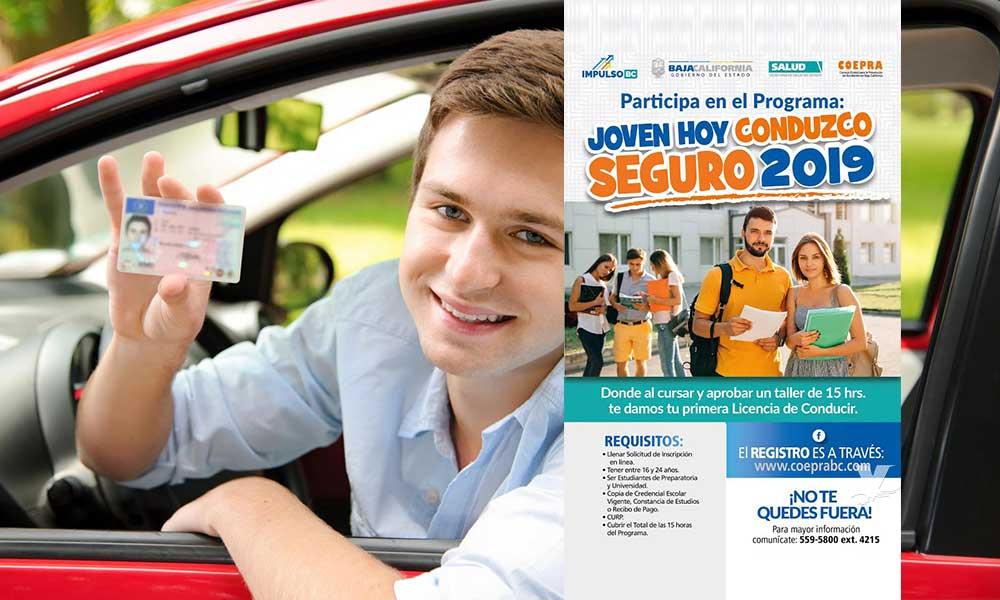 """Arranca en Tecate el programa """"Joven hoy conduzco seguro"""" 2019; obtén gratis tu primera licencia"""