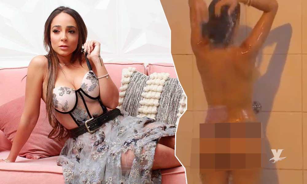 """(VIDEO) Manelyk se baña sin ropa en el nuevo reality """"Resistiré"""""""