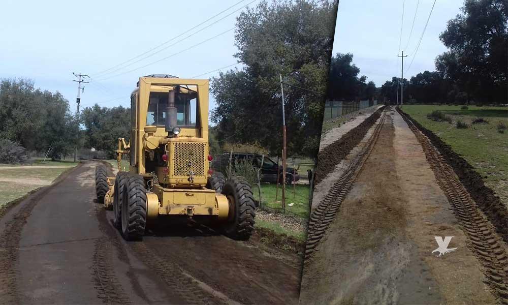 Gobierno Municipal realizó trabajos de motoconformado en la Zona Rural
