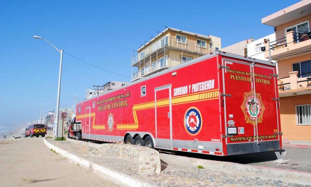 Instala Bomberos puesto de control en Playas de Tijuana