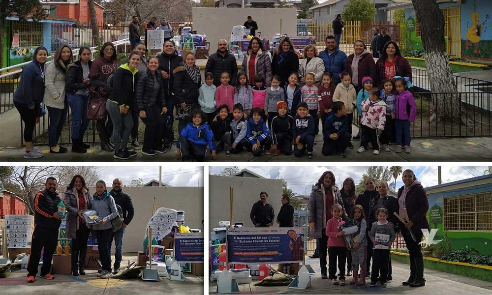 Entrega SEE material de limpieza y pintura a escuelas de Educación Básica de Tecate