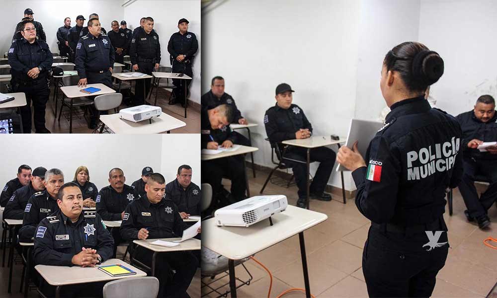 Capacitan a policías en la correcta atención de mujeres víctimas de violencia en Tecate