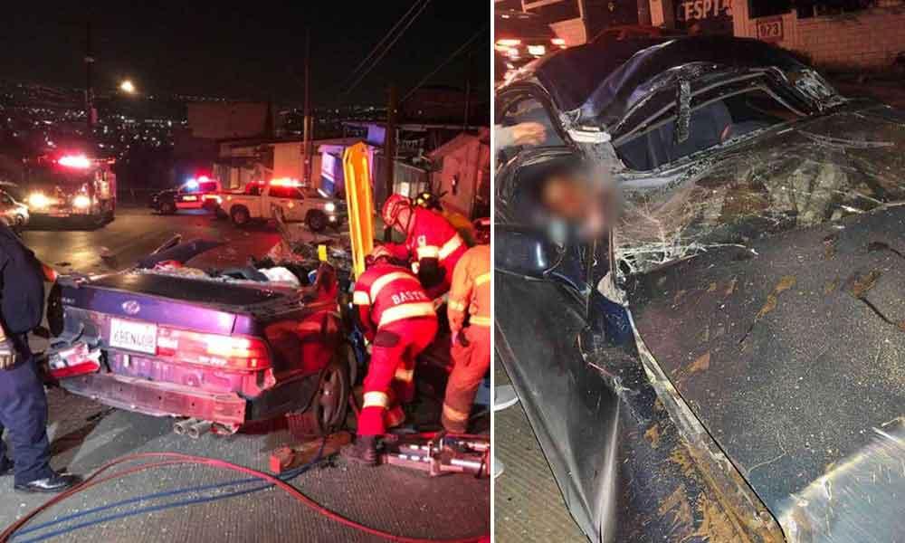 Fatal accidente deja saldo de una persona sin vida y una más lesionada de gravedad en Tijuana