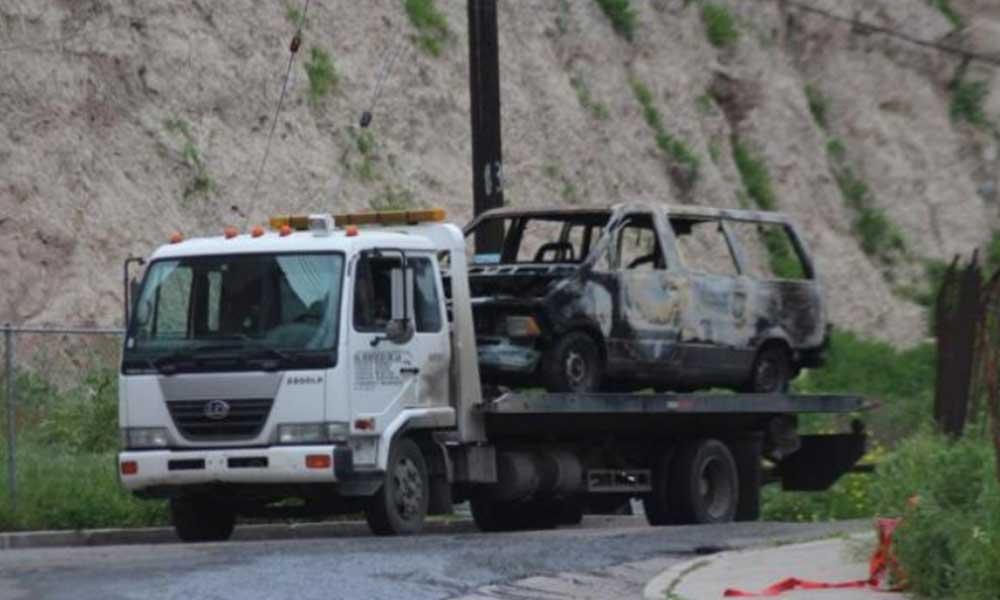 Incendian en Tijuana camioneta con un cadáver en su interior