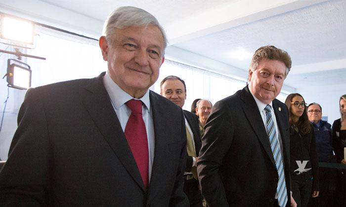 Se reúne Francisco Vega con López Obrador para presentar avances contra la inseguridad en Baja California