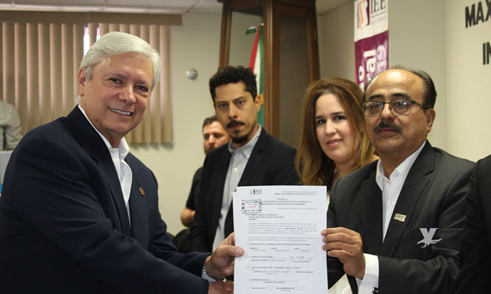 Registra Jaime Bonilla su candidatura para Gobernador de Baja California