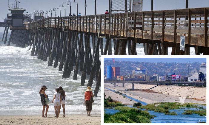 Exigen al Gobierno Mexicano se encargue de limpiar las playas de San Diego por contaminación del Río Tijuana