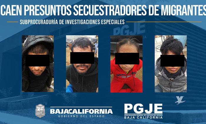 Quedan libres cuatro víctimas de secuestro y la PGJE asegura a cuatro imputados