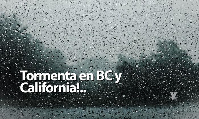 Segundo sistema de tormenta este viernes en BC y California