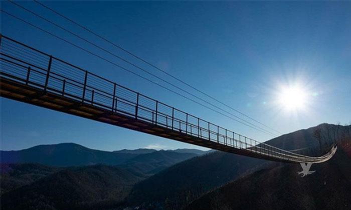 Abrirán esta primavera puente colgante más largo de Estados Unidos