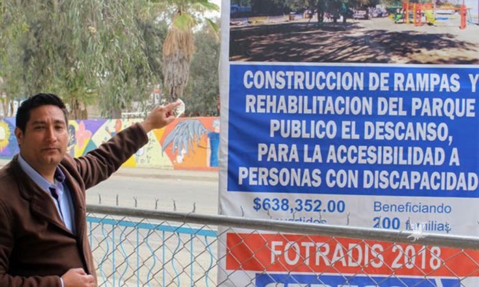 Realizan rehabilitación de parque en fraccionamiento el descanso