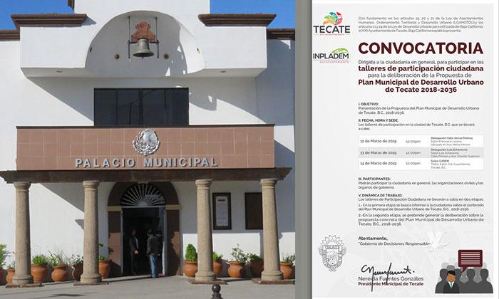 Convoca Gobierno Municipal de Tecate a talleres de Participación Ciudadana