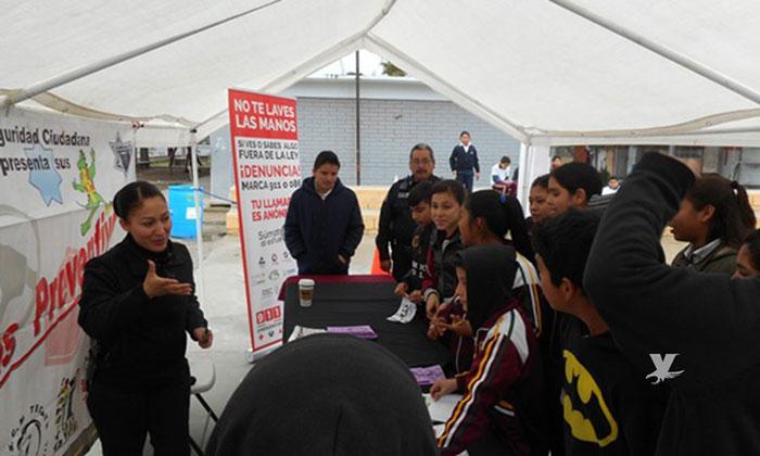 Se realizó jornada de Programas Preventivos de la Dirección de Seguridad Ciudadana de Tecate