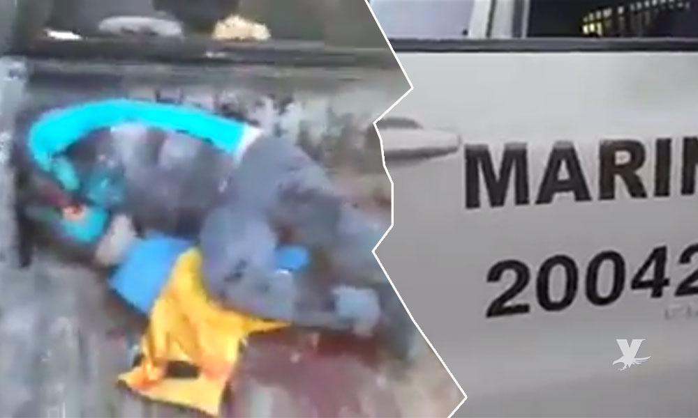 (VIDEO) Pescador muerto por presunto ataque de elementos de la Marina en San Felipe