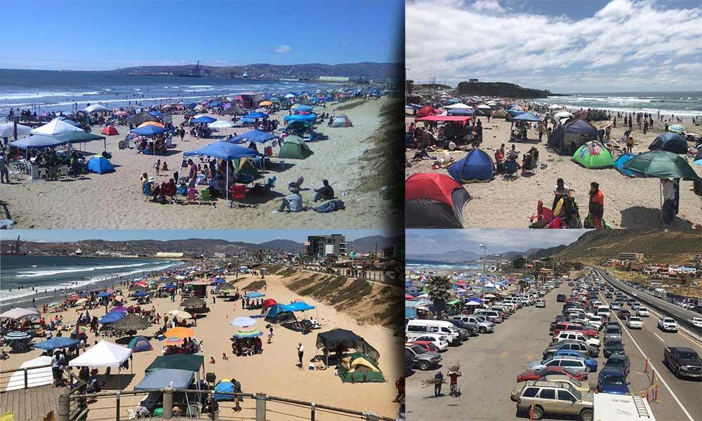 Registran gran afluencia de turistas en playas de Ensenada durante Semana Santa