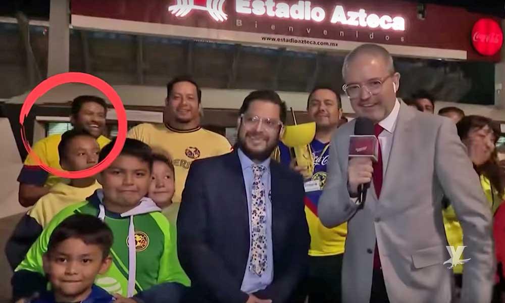(VIDEO) Aficionado del América agrede a reporteros deportivos después del juego contra Xolos